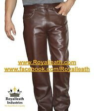 NEW 100% REAL LEATHER PANTS leder hosen pantalon fetish gay jeans bondage