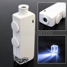 Mini LED beleuchtet 160 X-200 X Lupe Loupe Mikroskop Handheld +Schutztasche