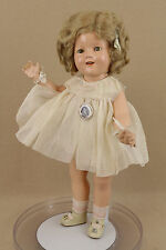 "18"" Vintage Composition Ideal Shirley Temple Doll In Original Curly Top dress"