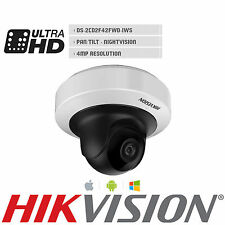 Hikvision 4MP Mini PT IP Camera DS-2CD2F42FWD-IWS IR 10m PoE Alarm IO Wi-Fi