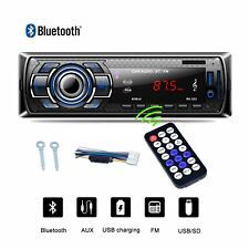 Car Stereo Audio Radio MP3 Player FM SD USB AUX Auto Bluetooth 1 Din In-Dash