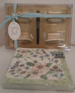 Tracy Porter Evelyn Collection 4 Place Card Set And Napkins