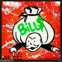 Alec Monopoly Bills Money Hand Painted Oil Painting Wall Art on Canvas No Frame
