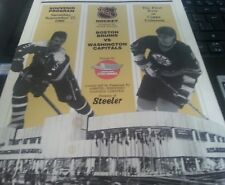 Boston Bruins vs Washington Capitals Program 1986 1st Copps Ray Bourque Langway