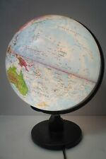 PLASTIC WORLD GLOBE  ELECTRIC LIGHT UP LAMP
