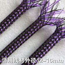 1M x 12MM Purple High Densely Expandable Braided PET Sleeving Cable 3 Weave