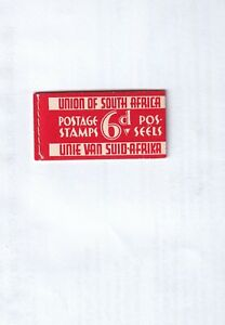 South Africa Stamps Early Booklet 6d Booklet superb condition