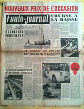 L'AUTO-JOURNAL n°65 du 11/1952; Morris Oxford contre Fiat 1400/ Borgward Hansa