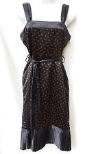 KOOKAI Womens Black Floral Rockabilly Retro Mod Fit N Flare Satin Dress 2 XS