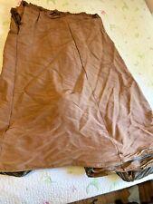 Antique Silk Lt. Brown Bustle Skirt Civil War Era For Parts
