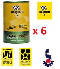 6 LITRI (5+1) OLIO BARDAHL TECHNOS C60 5W-40 EXCEED 5W40 MOTORE AUTO-TAGLIANDO