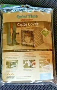Pet Crate Cover Quiet Time Defender Teflon Fabric Protection Reduce Anxiousness