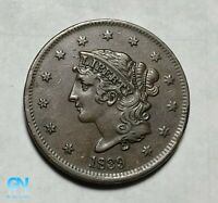 """1839 """"BOOBY"""" Coronet Head Large Cent   --  MAKE US AN OFFER!  #B0002"""