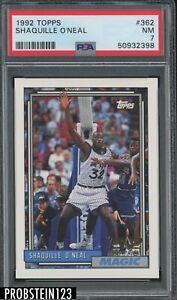 1992-93 Topps #362 Shaquille O'Neal Orlando Magic RC Rookie HOF PSA 7 NM