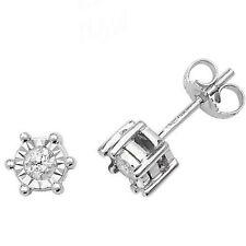 9 Carat Stud White Gold I2 Fine Diamond Earrings