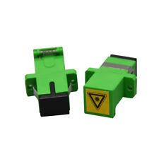 10pcs Optic Fiber SC APC Avoid Laser Adapter Fiber Optic Connector SC-SC Coupler