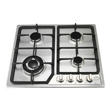 "23"" Stainless Steel Built-in Kitchen 4 Burner Stove Gas Hob Cooktop Cooker"