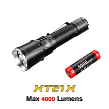 Klarus XT21X CREE XHP70.2 P2 LED USB Rechargeable Tactical Flashlight + Battery