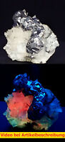 7935 Calcit UV Fluorit Quarz ca 5*4*3 cm Naica Mexico 1987 MOVIE