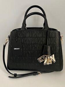 DKNY Paige Medium Satchel Handbag Shoulder Bag Black NWT