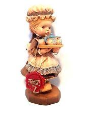 """VTG Anri Sarah Kay (Afternoon Tea) 6"""" LTD 873/4000 Carved Wood Figurine"""
