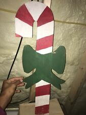 Christmas Large Candy Canes Outdoor Wood Yard Art,