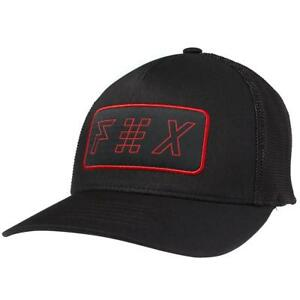FOX Parhelion Curved Flex Fit Truckers Hat In Black Genuine FOX Cap