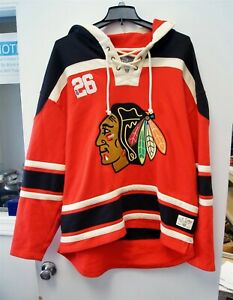 Old Time Hockey Chicago Blackhawks 2XL Red Hoodie Sweater C3481