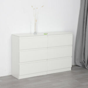 Chest of Drawers White Bedroom Furniture Hallway Tall Wide Storage UK