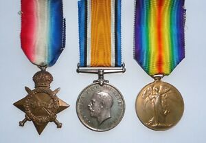 WW1 Medals 1914-15 Star trio RSM Cheshire Regt WALFORD Died Mesopotamia + papers