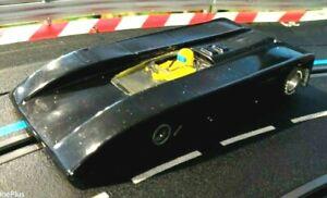 AVS Shadow lowline 1/24 slot car powered by Mura 2 hole X-12 motor. Rare body!