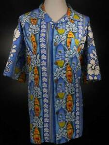 Tropical Men's XL Maui Trading Company Surfboard Floral Short Sleeve Button Shir
