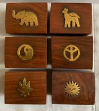 SMALL WOODEN BOX JEWELLERY STORAGE BOX GIFT TRINKET BOX