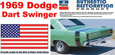 1969 Dodge Dart Swinger 340 Flat Black Tape Stripe Kit NEW MoPar