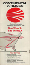 Continental Airlines system timetable 12/1/81 [308CO] Buy 4+ save 25%