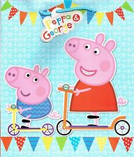 Peppa Pig Large Gift Bag 27cm X 32cm X 10cm When Opened