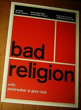 Bad Religion Rock Concert Poster Swiss Punk Graphic Pop Art 10X14 Mike Joyce
