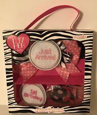 Luv Her Baby Pink & Black Gift Set baby's 1st year photo fun gift set Nib