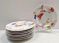 222 Fifth 'Spring Beauty' Floral Butterflies Appetizer/Dessert Plates Set Of 8