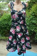 CROSSROADS Stylish Black Floral DRESS Race-Party-Beach Size 18  NEW rrp $59.95