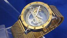 Modern Retro EYE CATCHING Bridge Steampunk Skeleton Automatic Mechanical Watch