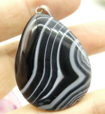41*30MM Natural picture agate pendant Gem Beads Jewelry making necklace A44