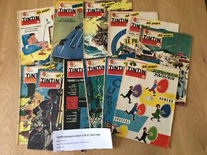 TINTIN équivalent reliure n°39 (n° 538 à 549) tintin hebdomadaire 1959 BE+
