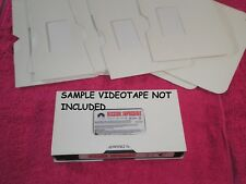 New VHS Videotape Replacement Side-Load Slip Case! Plain White, Pack of 10!