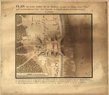 Plan of Fort Conde Mobille Al c1743 repro 18x16