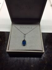 $68  Nadri Gifting Briolette blue crystal necklace ND6