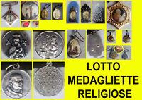 Medagliette religiose lotto di n°8 pezzi (Johannes XXIII Benedictus S.V. Varallo