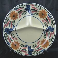 Vintage Societe Ceramique Maestricht Holland Divided Dinner Plate Floral