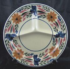 Vintage Societe Ceramique Maestricht Holland Divided Dinner Plate Floral
