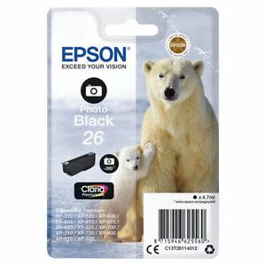 Epson 26 Photo Black Inkjet Cartridge C13T26114012 Expression Premium XP-820 800